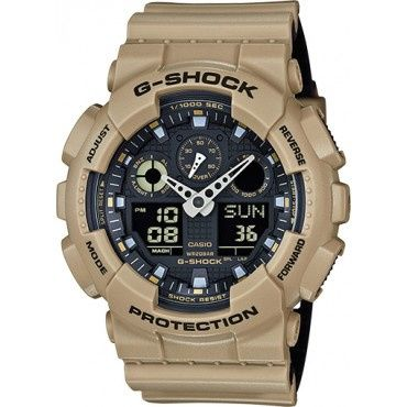 Casio G-Shock Anti-Magnetic Khaki and Black Resin Watch