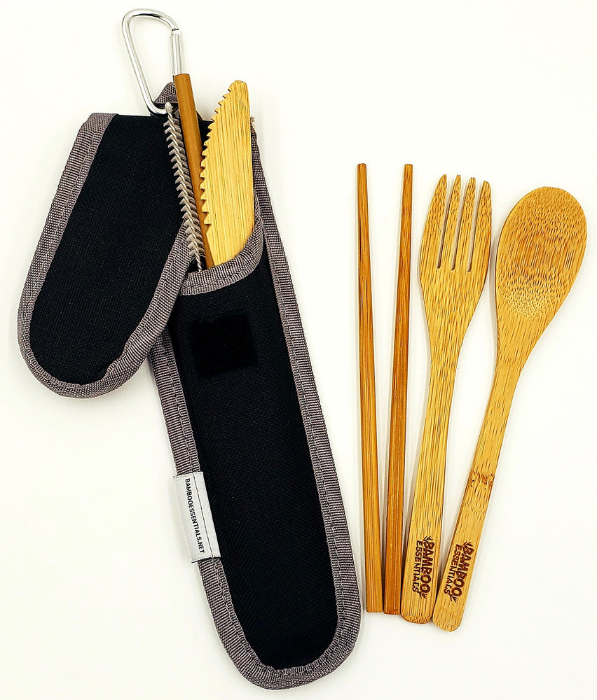 Bamboo Essentials | Bamboo Travel Utensil Set