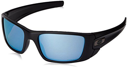 Oakley Men's Fuel Cell OO9096-D8 Polarized Wrap Sunglasses, Matte Black, 60 mm