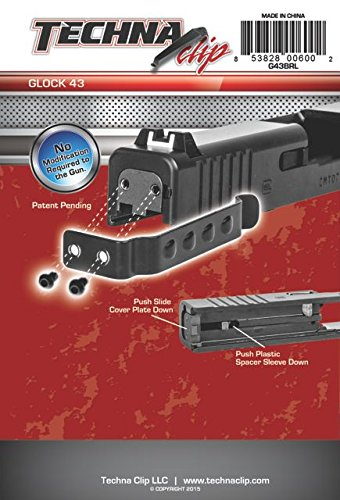 TECHNA CLIP HANDGUN RETENTION CLIP GLOCK 43 RIGHT/LEFT