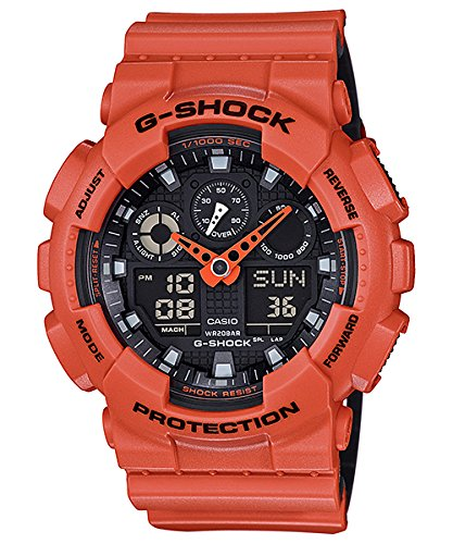 Casio G-Shock GA-100 Military Series Watches, one size | Orange