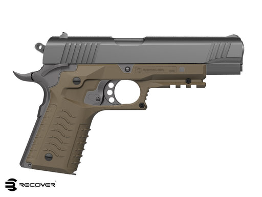 Recover Tactical CC3H 1911 Grip and Rail System - Desert Sand