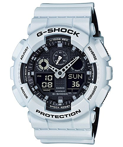Casio G-Shock GA-100 Military Series Watches, one size | White