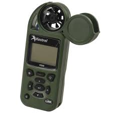 Kestrel 5500 Pocket Weather Meter W/Link + Vane Mount - Olive
