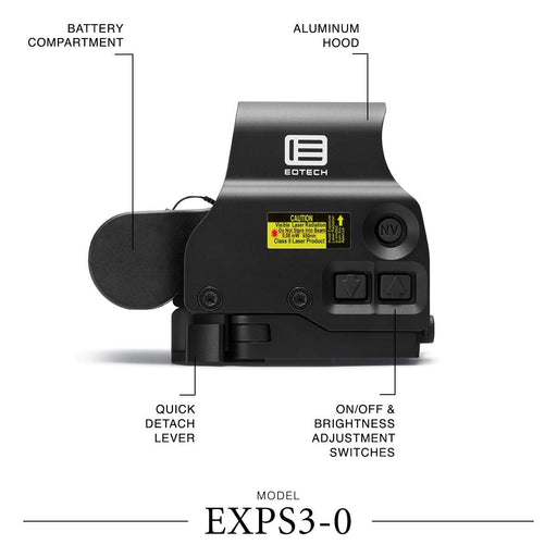 EOTECH Holographic Weapon Sight, black EXPS3-0 Holographic Weapon Sight, Black