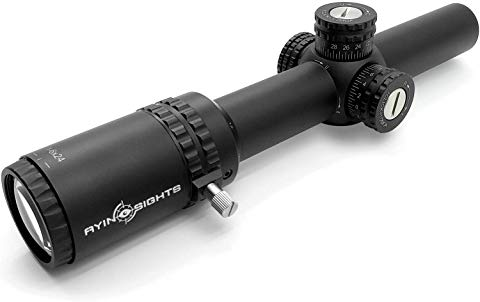 AYIN Sights Centurion 1-6x24 Tactical/Hunting Scope with Tactical Turrets, Throw Lever & Flip Caps - Middletown Outdoors