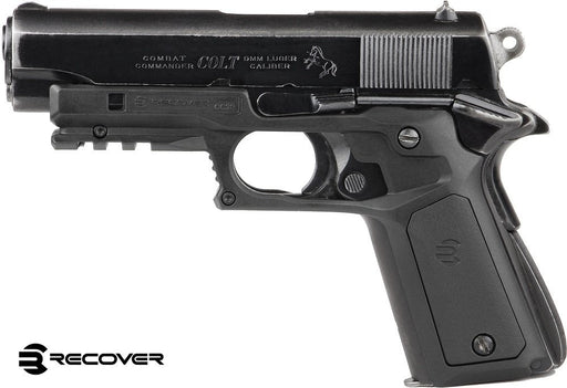 Recover Tactical CC3P Grip and Rail System with Changeable Panels for The 1911 - Black with Black and Tan Panels