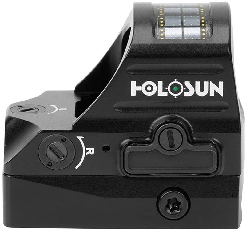Holosun HE507C-GR-V2 Multi-Reticle 2 MOA and 32 MOA Circle Parallax Free Pistol Green Dot Sight with Solar Failsafe and Shake Awake, Green