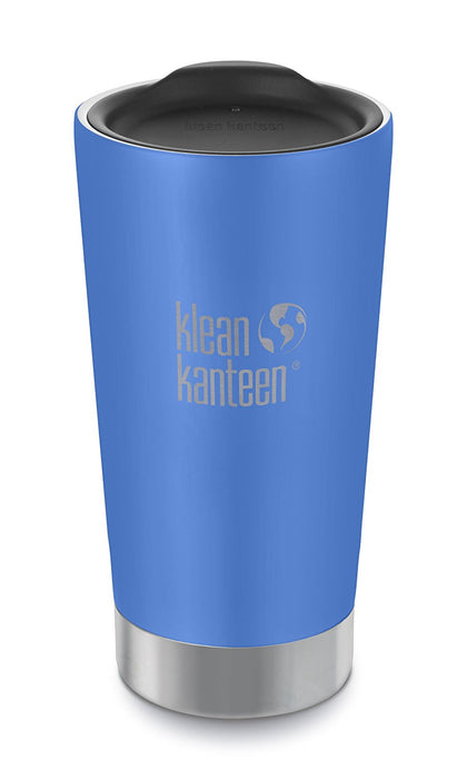 Klean Kanteen 16oz Stainless Steel Tumbler Cup, Double Wall Vacuum Insulated and Lid - Brushed Stainless