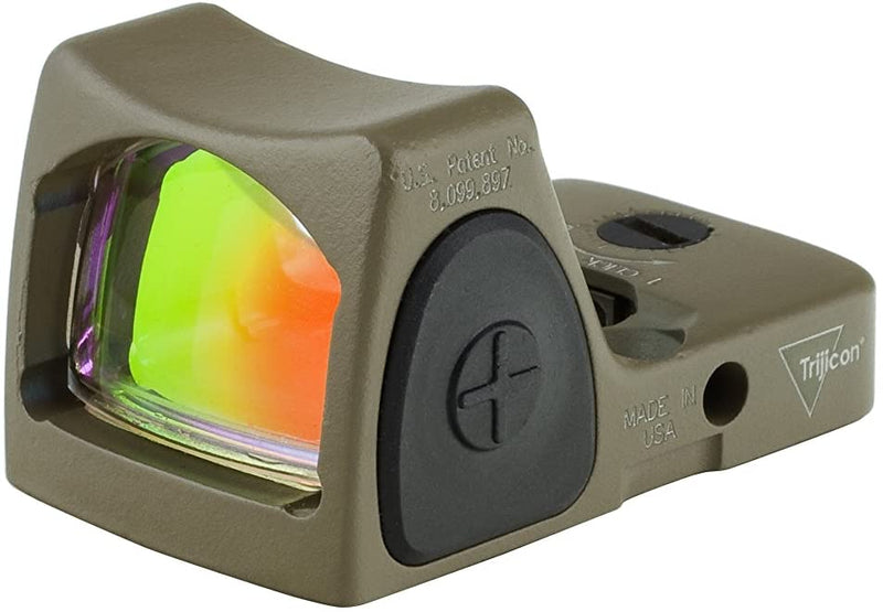 Trijicon RM06-C-700696 RMR Type 2 Adjustable LED Sight, 3.25 MOA Red Dot Reticle, Cerakote Flat Dark Earth - Middletown Outdoors