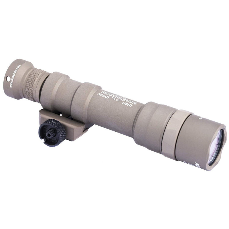SureFire Dual Fuel Scout LED WML Mounted Light with Z68 Switch & Thumbscrew Mount 1500 Lumens, Tan