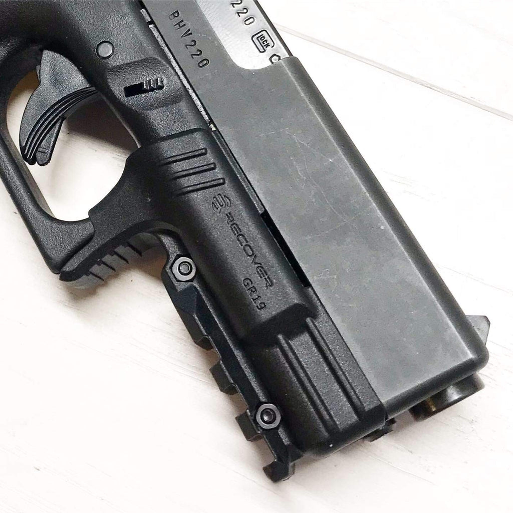 recover tactical gr19l rail adapter for glock 19 and 23