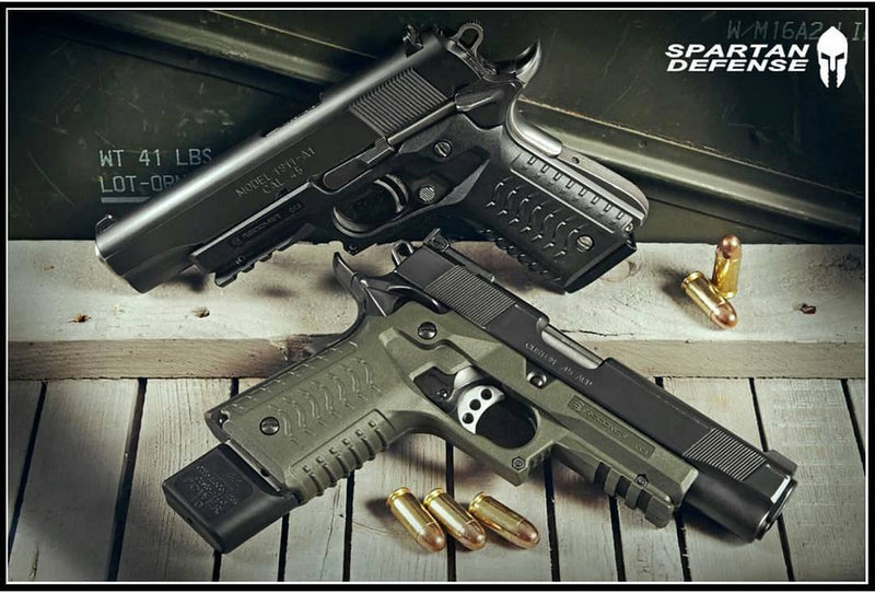 RECOVER Tactical CC3H GRIP AND RAIL SYSTEM FOR THE 1911- OLIVE DRAB