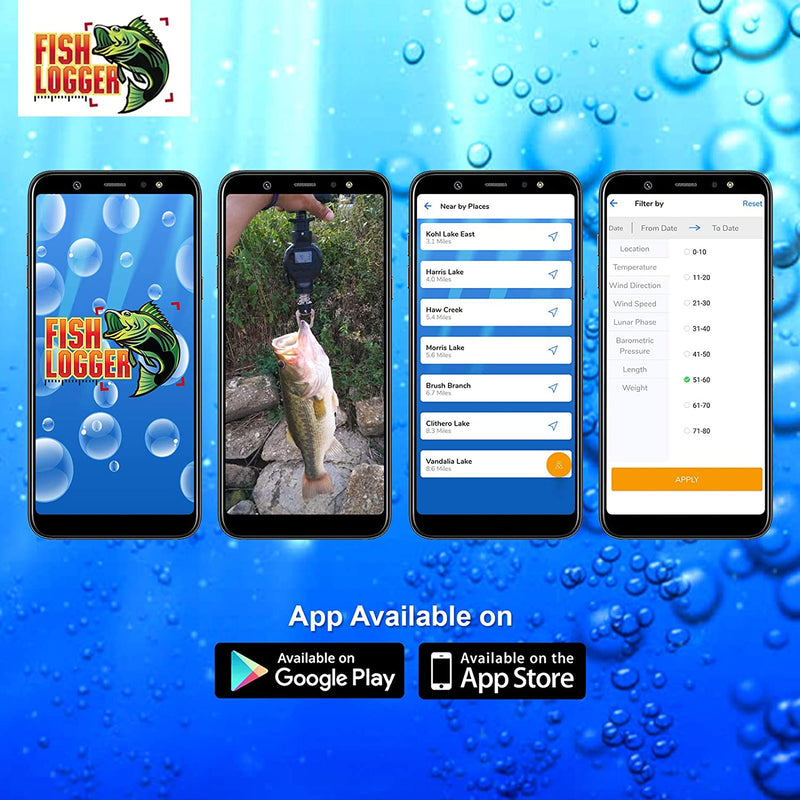 FishLogger Digital Fish Scale, with Bluetooth Capabilities and Free App