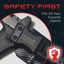 AYIN IWB/OWB Holster Right-Handed Fits Glock 19/23/32/36/45 with or Without Optic