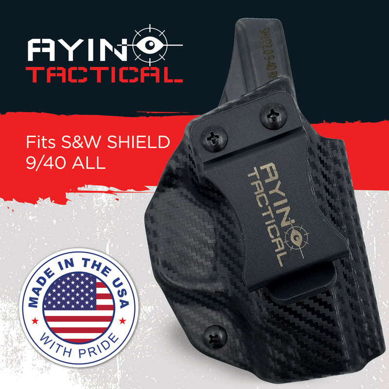 AYIN IWB/OWB Holster Right-Handed for Smith & Wesson M&P 9/40 Shield and M&P 9/40 Shield M2.0 With or Without Optic