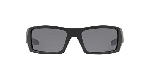 Oakley Mens Gascan Sunglasses (OO9014) Black Matte/Grey Plastic - Polarized - 60mm
