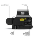 EOTech EXPS3-2 Holo Weapon Sight, NV Compatible, 65 MOA ring and (2) 1 MOA dots Reticle (EXPS3-2)