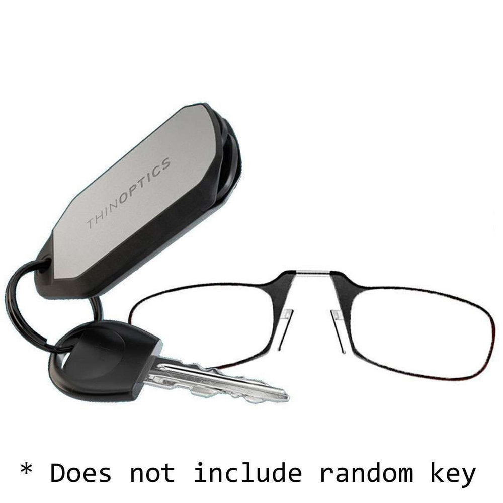 ThinOptics Keychain Case w/ Readers, +1.0, B