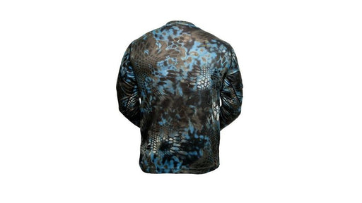 Kryptek Hyperion Long Sleeve Camo Shirt - Lightweight, Birds-Eye Mesh for Hunting & Fishing Shirt - Neptune