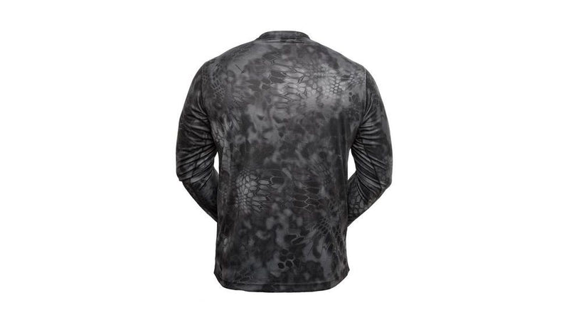 Kryptek Hyperion Long Sleeve Camo Shirt - Lightweight, Birds-Eye Mesh for Hunting & Fishing Shirt - Typhon
