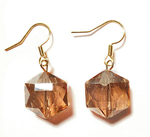 Brown Crystal Bead Earrings