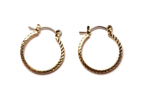 14k small hoop earrings