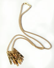 Load image into Gallery viewer, Eight Bar Tassel Necklace
