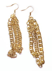 Bright Gold Chain Earrings - E036
