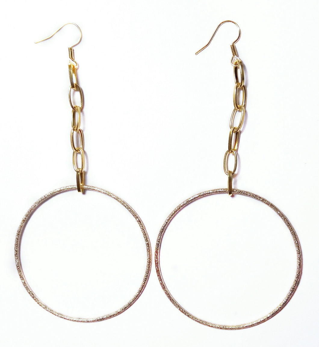 Gold Dust Chain Hoops