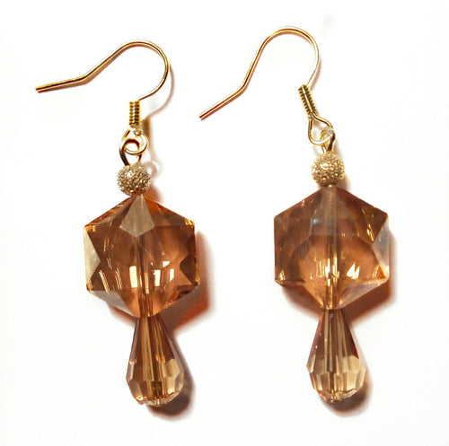 Brown Crystal Earrings