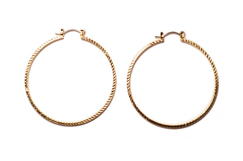 14k hoop earrings large