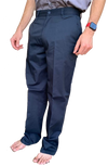 Men's Navy Regular Twill Pants, Occupational Uniform Work Pants