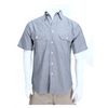 Men's Chambray Cotton Work Shirt Short Sleeve