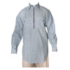 Men's Logger Hickory Stripe Long Sleeve Shirt with Zip front
