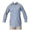 Mens Chambray Shirt Work Uniform Long Sleeve Shirt