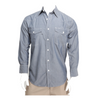 Men's Chambray Western Cotton / Polyester Work Shirt with Button front Closure