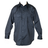 Men's Twill Navy Work Long Sleeve Shirt with Button front Closure