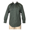 Men's Olive Green Twill Work Long Sleeve Shirt with Button front Closure
