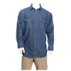 Men's Denim Western Work Long Sleeve Shirt with Button front Closure