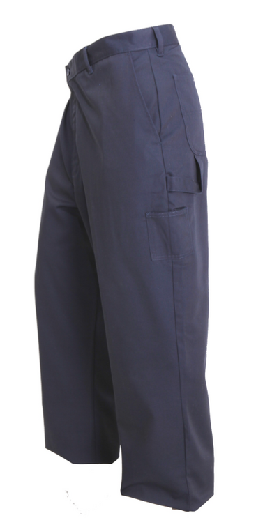 Men's Work Pant, Navy Heavy Duty 8.5 oz 65% Poly 35% Cotton Twill with Hammer Loop, Occupational Uniform Pants