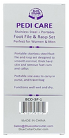 Pedi Care Foot File and Rasp Set, High Quality Stainless Steel, Portable Size Easy to Carry When Traveling.