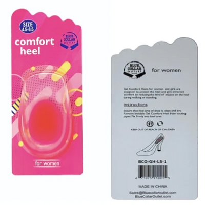 Comfort Heel Cushion for Women with Comfort-Soft Gel Cushioning, Orthotic Heel Support
