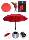 Umbrella with LED Safety Light for Men & Women, High Quality Stainless Steel, Portable Size Easy to Carry When Traveling.