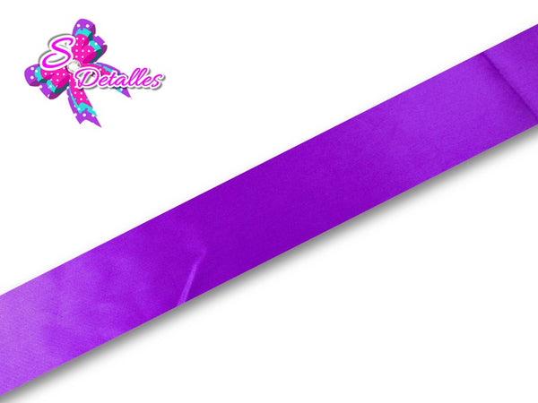 Listón Satinado Unicolor de 0,9 cm – 465, Purple, Morado,