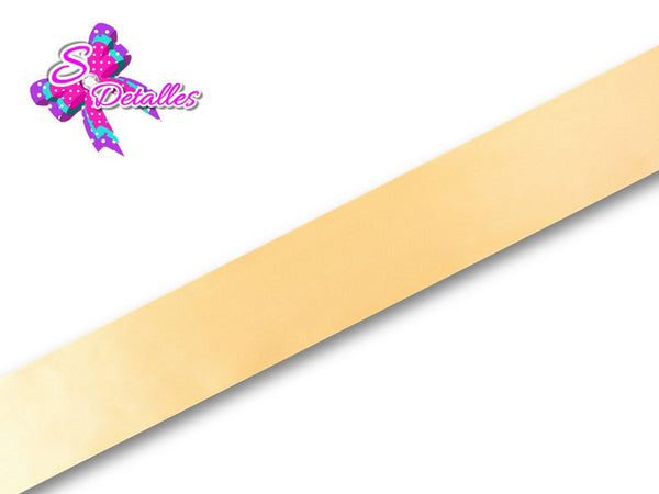 Listón Satinado Unicolor de 0,9 cm – 675, Gold, Oro,