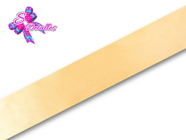 Listón Satinado Unicolor de 1,5 cm – 675, Gold, Oro,