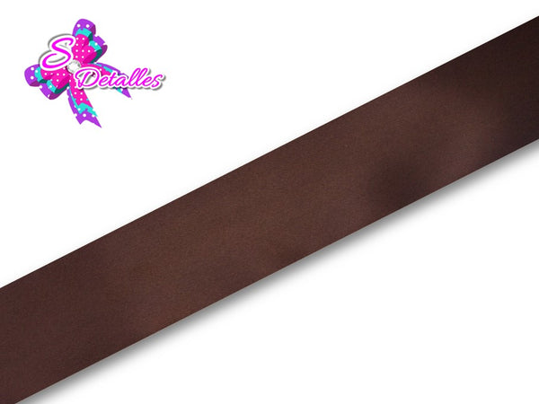 Listón Satinado Unicolor de 1,5 cm – 850, Brown, Marrón, Café,