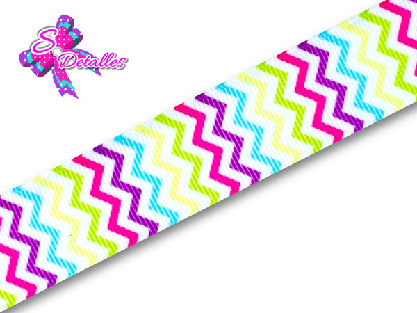 Barrotado Formas - Chevron, Zigzag, Multicolor, Fondo Blanco, Colores,