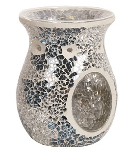 Tealight Wax Melter - Blue & Silver